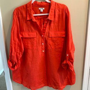 Old Navy Burnt Orange Tunic-Size XXL
